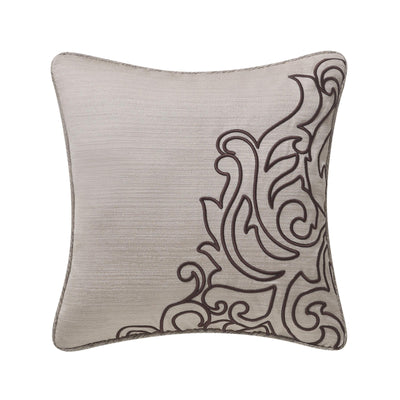 "Patrizia Mocha Decorative Throw Pillow 16"" x 16"" [Luxury comforter Sets] [by Latest Bedding]"