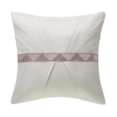 "Patrizia Mocha Decorative Throw Pillow 18"" x 18"" [Luxury comforter Sets] [by Latest Bedding]"