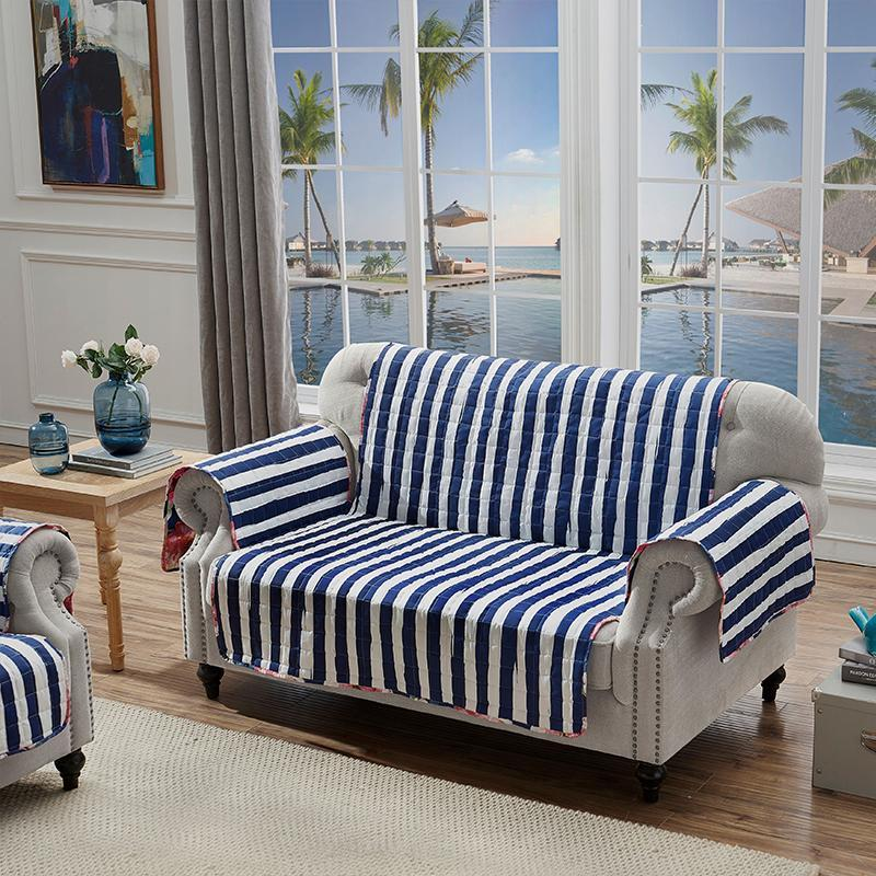 Slipcovers Peony Posy Navy Furniture Protector Loveseat Latest Bedding