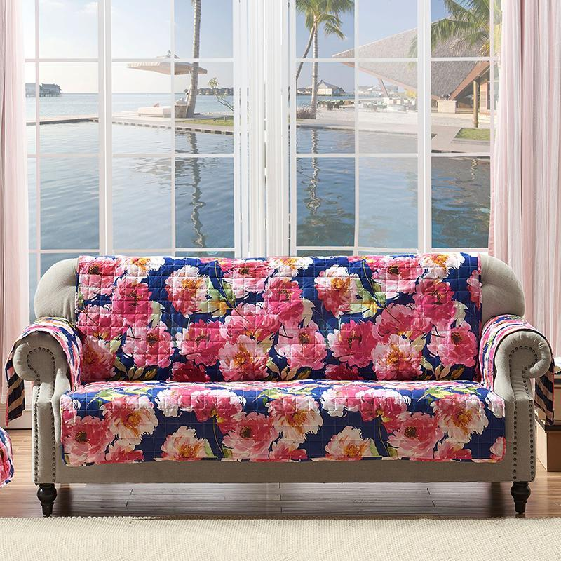 Slipcovers Peony Posy Navy Furniture Protector Sofa Latest Bedding