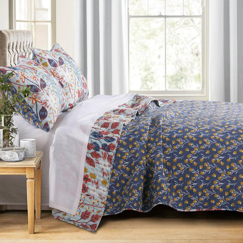 Quilt Sets Perry Multi 3-Piece Quilt Set Latest Bedding