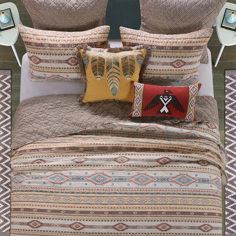 Phoenix Tan 3-Piece Quilt Set [Luxury comforter Sets] [by Latest Bedding]