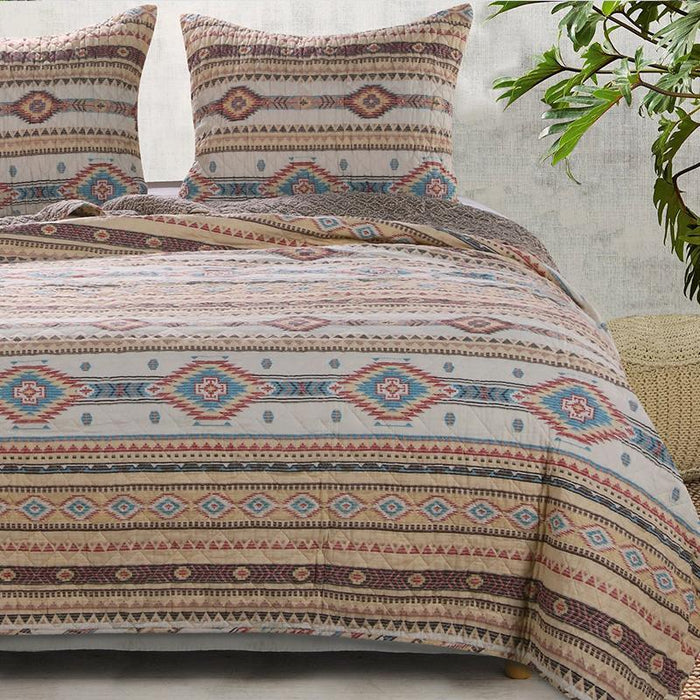 Phoenix Tan 3-Piece Quilt Set