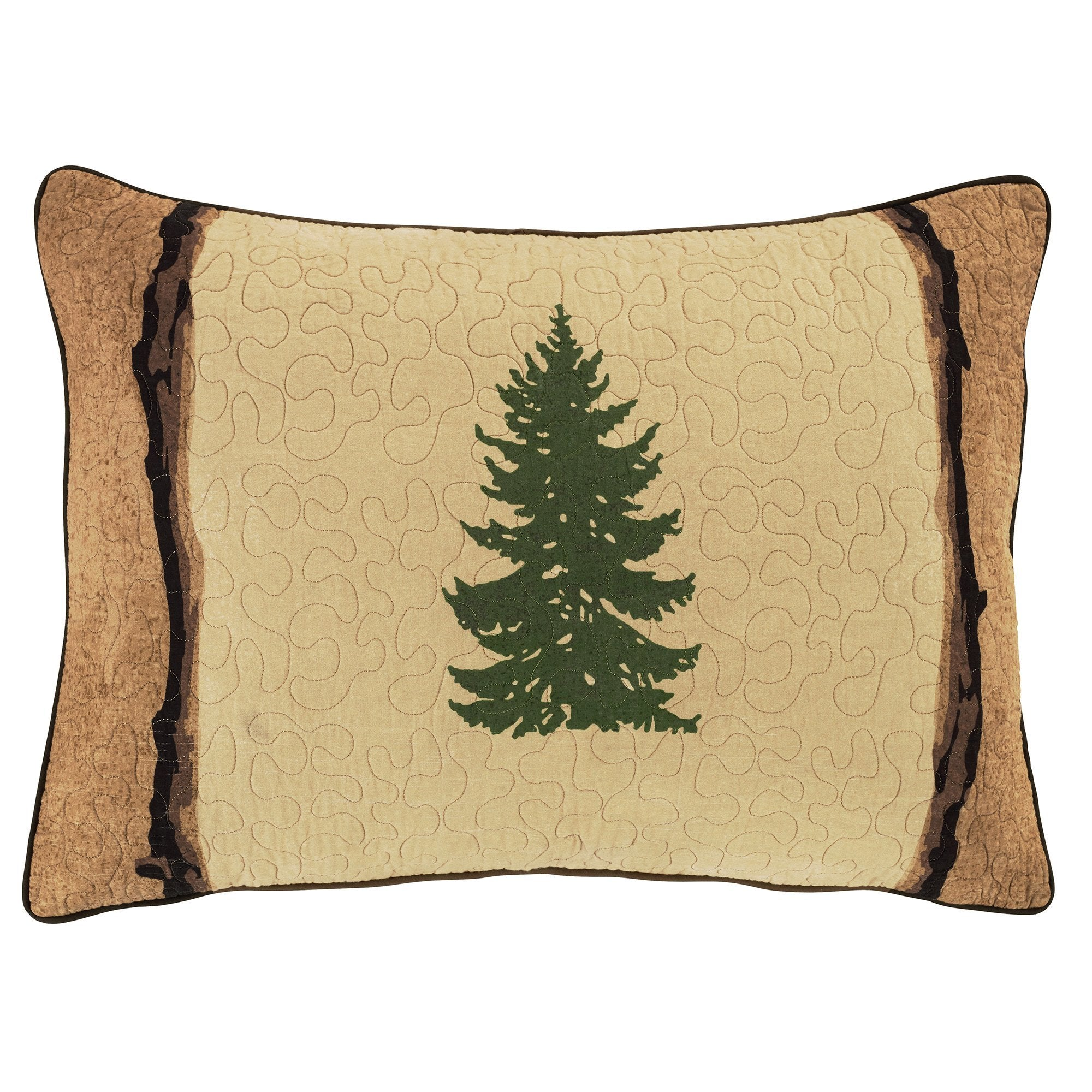 Pine Crossing Sham [Luxury comforter Sets] [by Latest Bedding]