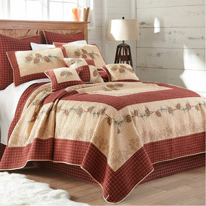 Pine Lodge 3-Piece Cotton Quilt Set [Luxury comforter Sets] [by Latest Bedding]