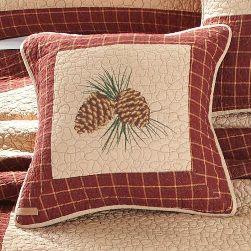 Pine Lodge Pinecone Decorative Pillow [Luxury comforter Sets] [by Latest Bedding]