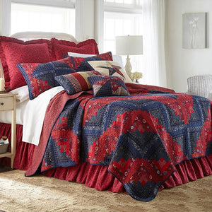 Plymouth Classic 3-Piece Cotton Quilt Set [Luxury comforter Sets] [by Latest Bedding]