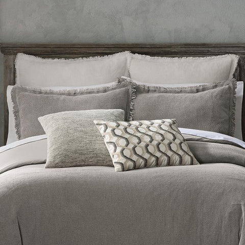 Reese Gray 3-Piece Duvet Set [Luxury comforter Sets] [by Latest Bedding]
