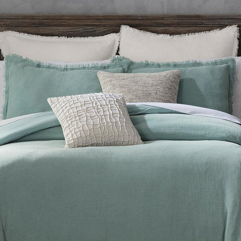 Reese Spa Blue 3-Piece Duvet Set [Luxury comforter Sets] [by Latest Bedding]
