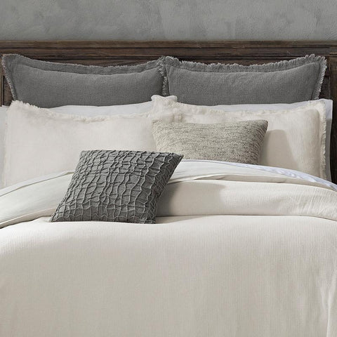 Reese White 3-Piece Duvet Set [Luxury comforter Sets] [by Latest Bedding]