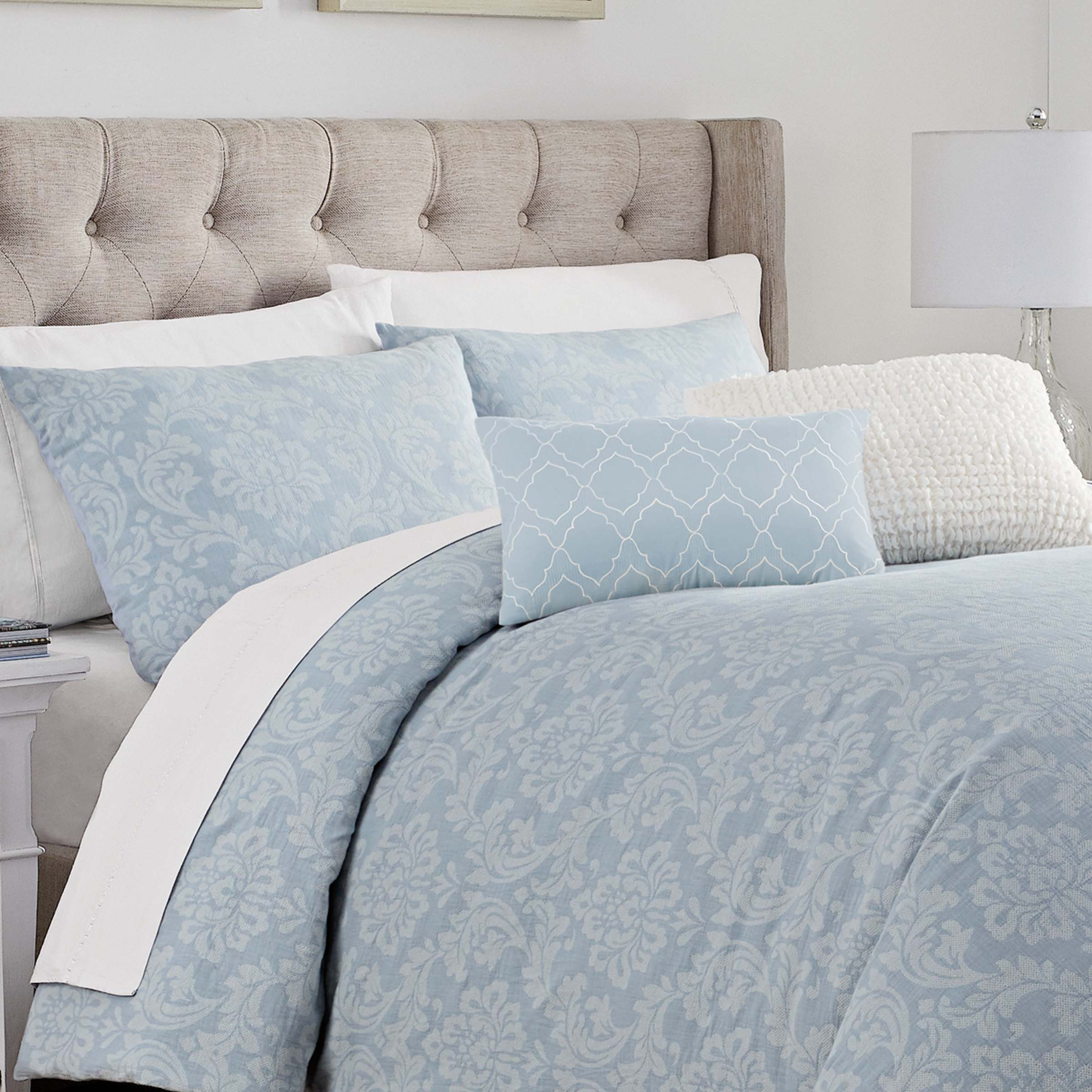 Riley Blue 5-Piece Comforter Set [Luxury comforter Sets] [by Latest Bedding]