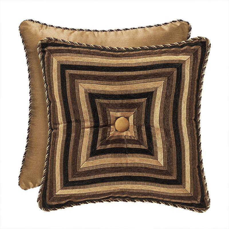 Reilly Black Square Decorative Throw Pillow [Luxury comforter Sets] [by Latest Bedding]