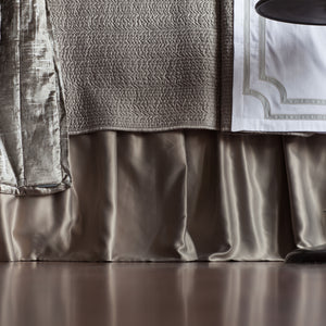 Retro Pewter S&S 3-Panel Bedskirt Bed Skirt By Lili Alessandra
