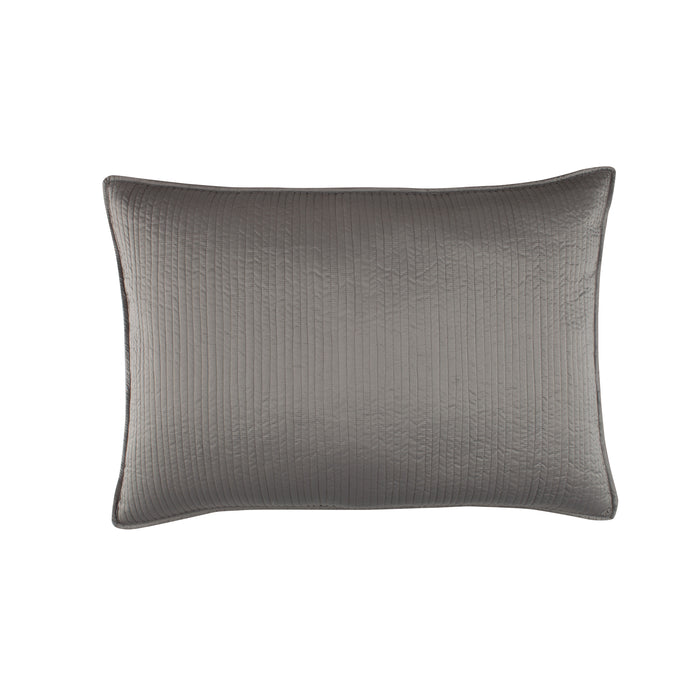 Retro Pewter S&S Quilted Pillow