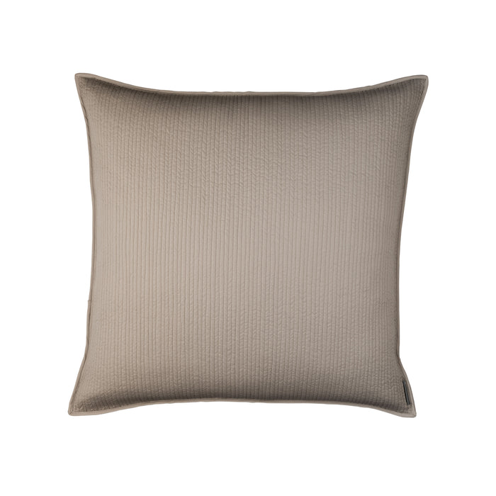 Retro Taupe S&S Quilted Euro Pillow