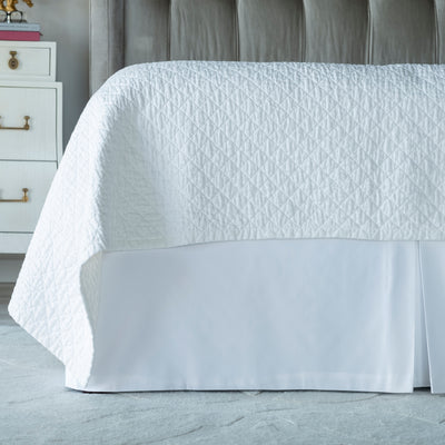 Retro White Cotton 3-Panel Bedskirt [Luxury comforter Sets] [by Latest Bedding]