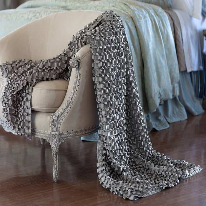 Ribbon Pewter S&S Throw