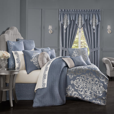 Richmond Indigo 4-Piece Comforter Set [Luxury comforter Sets] [by Latest Bedding]