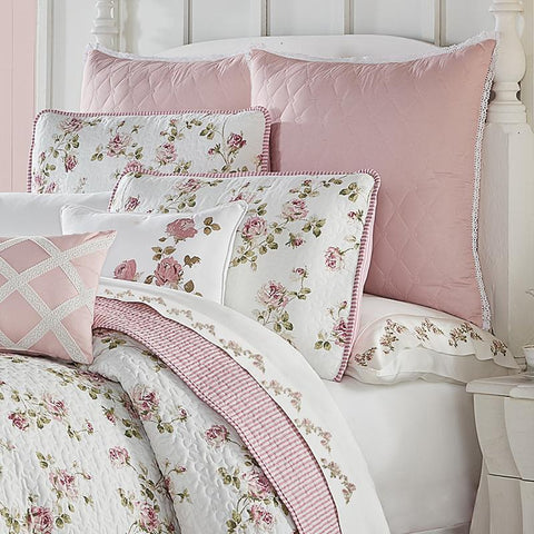 Quilt Sets Rosemary Rose 3-Piece Quilt Set [Luxury comforter Sets) ( by Latest Bedding)]