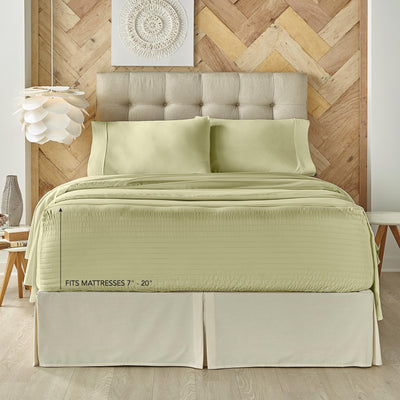 Royal Fit Coolmax Sage 4-Piece Sheet Set Sheet Set By J. Queen New York