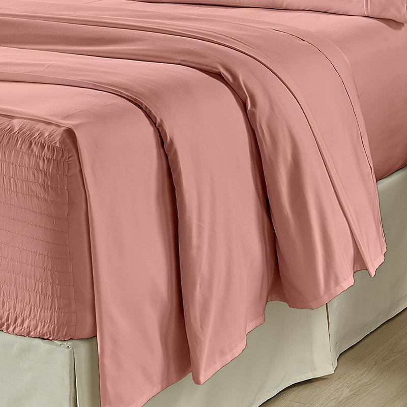 Royal Fit Ash Rose 300 Thread Count 4-Piece Sheet Set Sheet Set By J. Queen New York