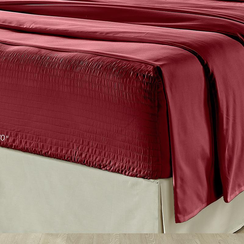 Royal Fit Burgundy 4-Piece Microfiber Sheet Set [Luxury comforter Sets] [by Latest Bedding]