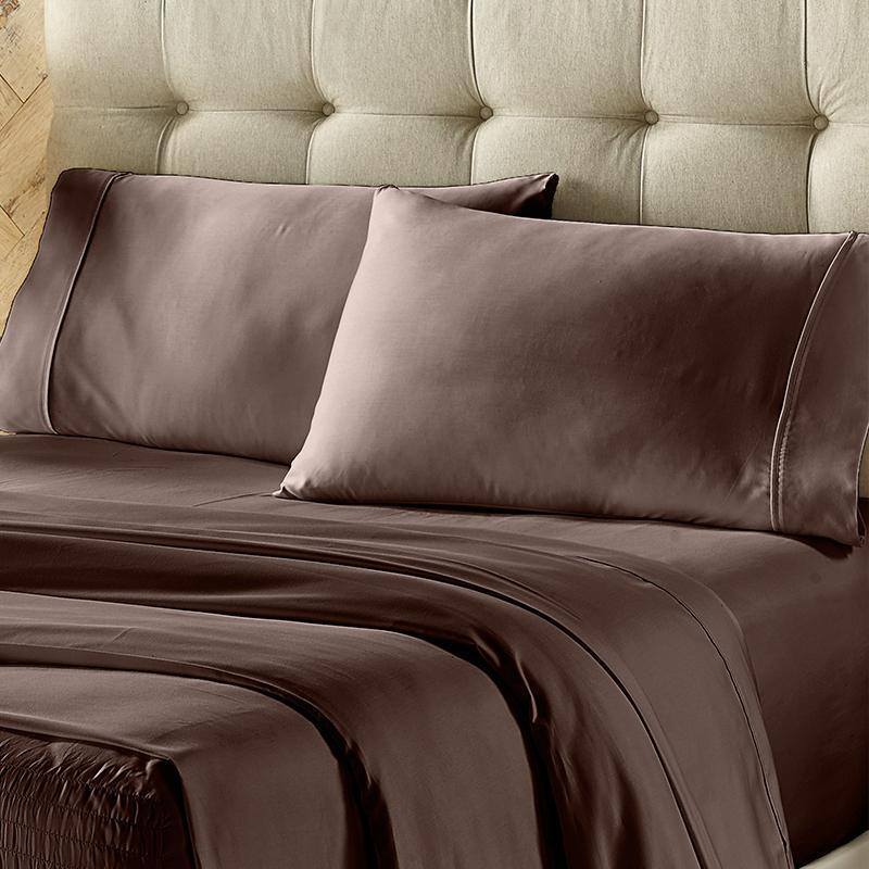 Royal Fit Chocolate 300 Thread Count 4-Piece Sheet Set [Luxury comforter Sets] [by Latest Bedding]