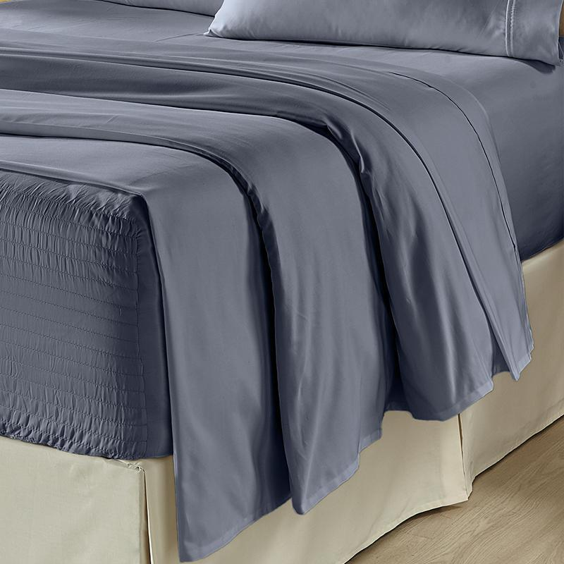 Royal Fit Dark Blue 300 Thread Count 4-Piece Sheet Set Sheet Set By J. Queen New York
