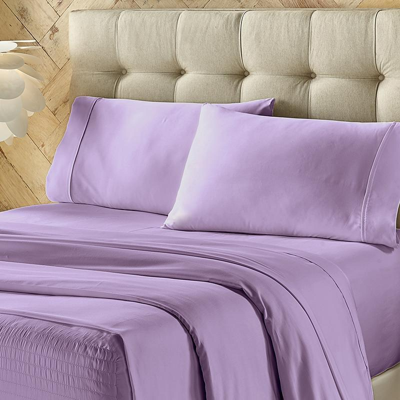 Royal Fit Lilac 4-Piece Microfiber Sheet Set Sheet Set By J. Queen New York