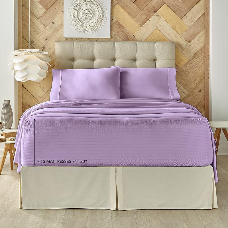 Royal Fit Lilac 4-Piece Microfiber Sheet Set [Luxury comforter Sets] [by Latest Bedding]