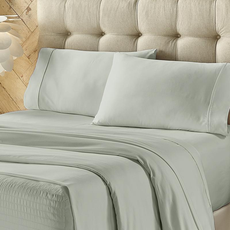 Royal Fit Powder Blue 500 Thread Count 4-Piece Sheet Set [Luxury comforter Sets] [by Latest Bedding]