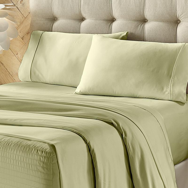 Royal Fit Sage 500 Thread Count 4-Piece Sheet Set Sheet Set By J. Queen New York