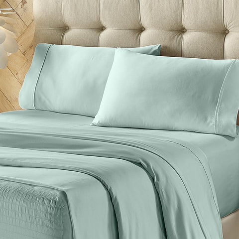 Royal Fit Sea Foam 800 Thread Count 4-Piece Sheet Set [Luxury comforter Sets] [by Latest Bedding]