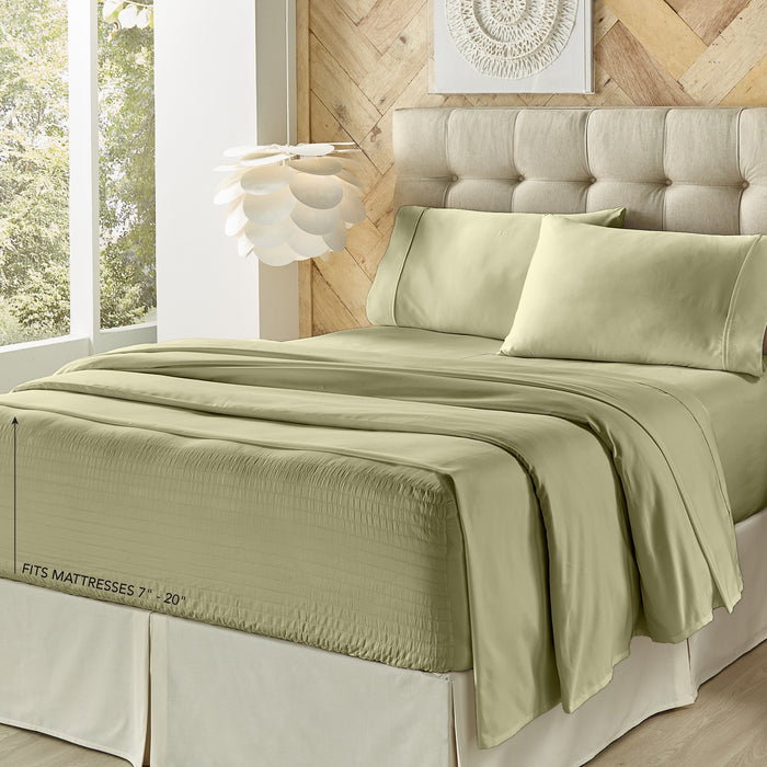 Royal Fit Sage 500 Thread Count 4-Piece Sheet Set