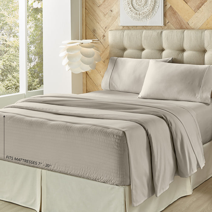 Royal Fit Silver 500 Thread Count 4-Piece Sheet Set