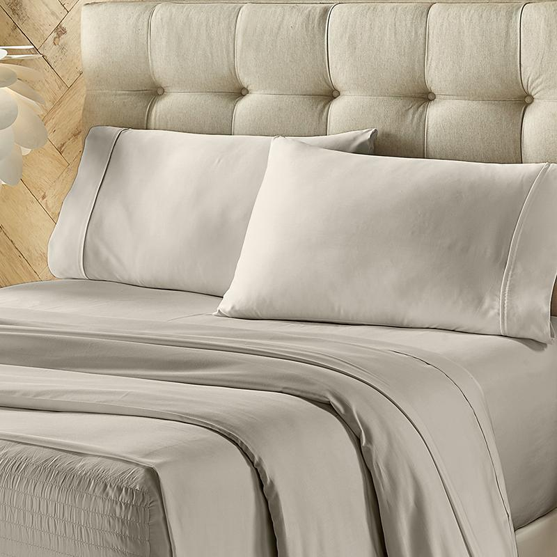 Royal Fit Silver 500 Thread Count 4-Piece Sheet Set Sheet Set By J. Queen New York
