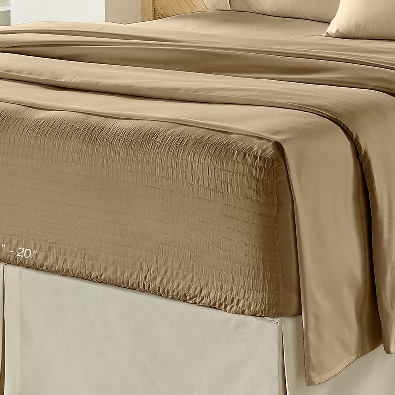Royal Fit Tan 500 Thread Count 4-Piece Sheet Set [Luxury comforter Sets] [by Latest Bedding]