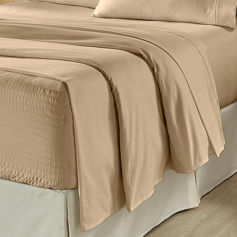 Royal Fit Taupe 300 Thread Count 4-Piece Sheet Set [Luxury comforter Sets] [by Latest Bedding]