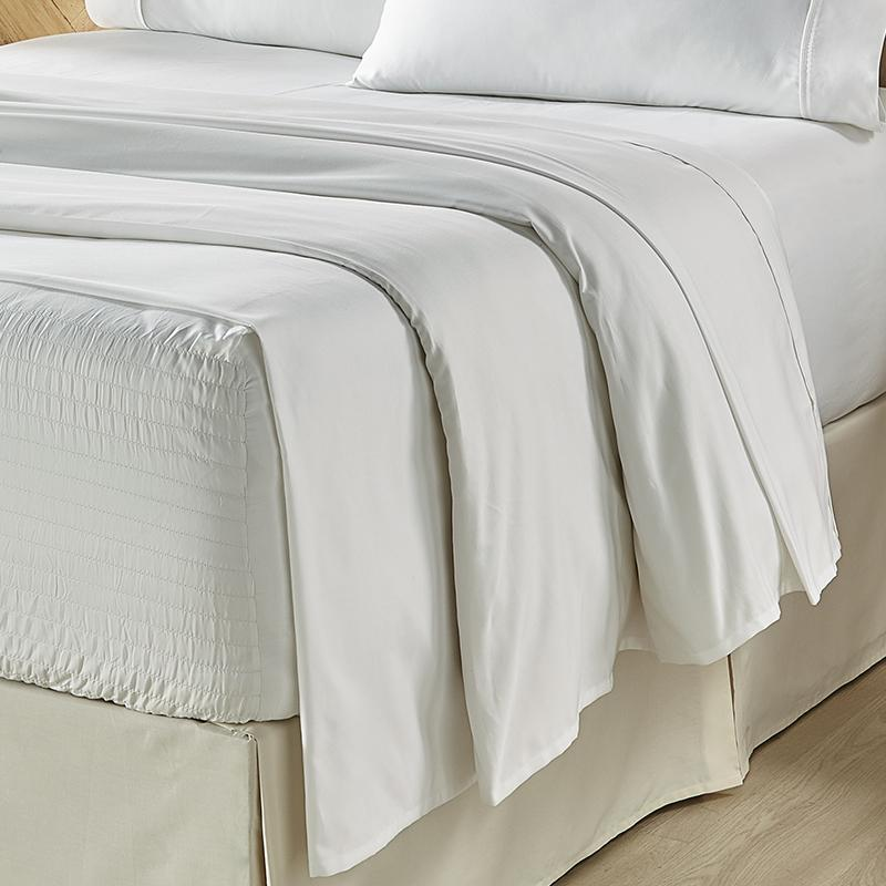 Royal Fit White 4-Piece Microfiber Sheet Set Sheet Set By J. Queen New York