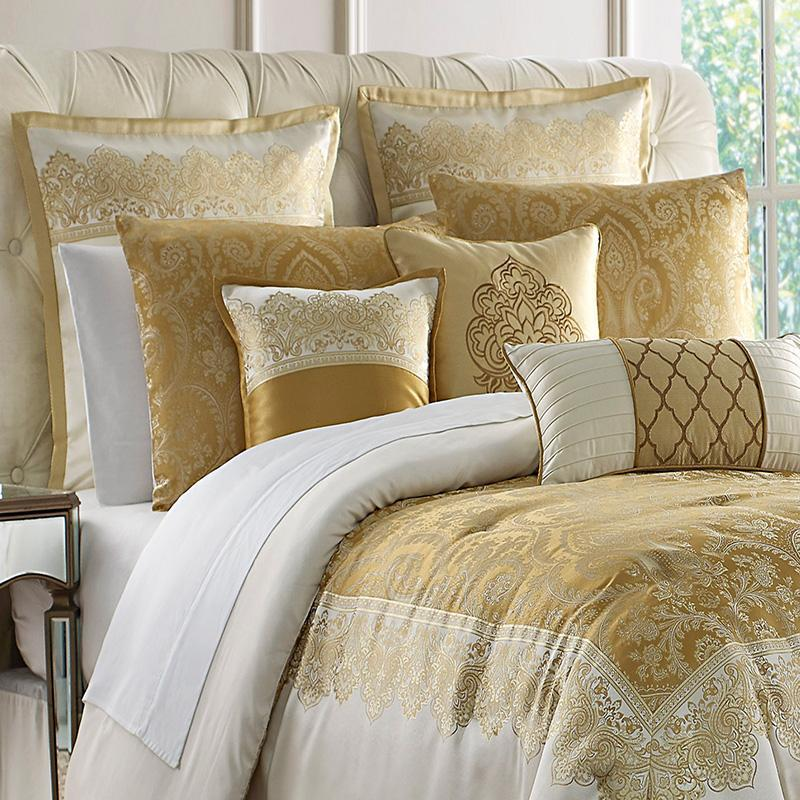 Comforter Sets Russell Gold Square 4-Piece Comforter Set Latest Bedding