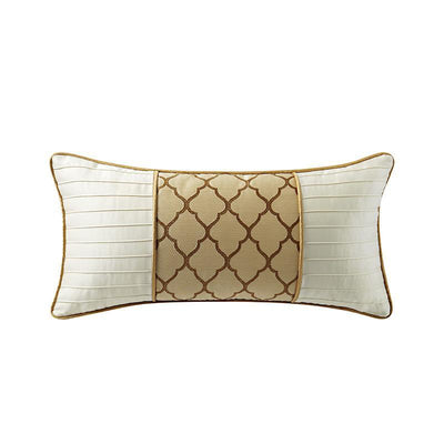 "Russell Gold Square Decorative Pillow 22"" x 11"" Throw Pillows By Waterford"