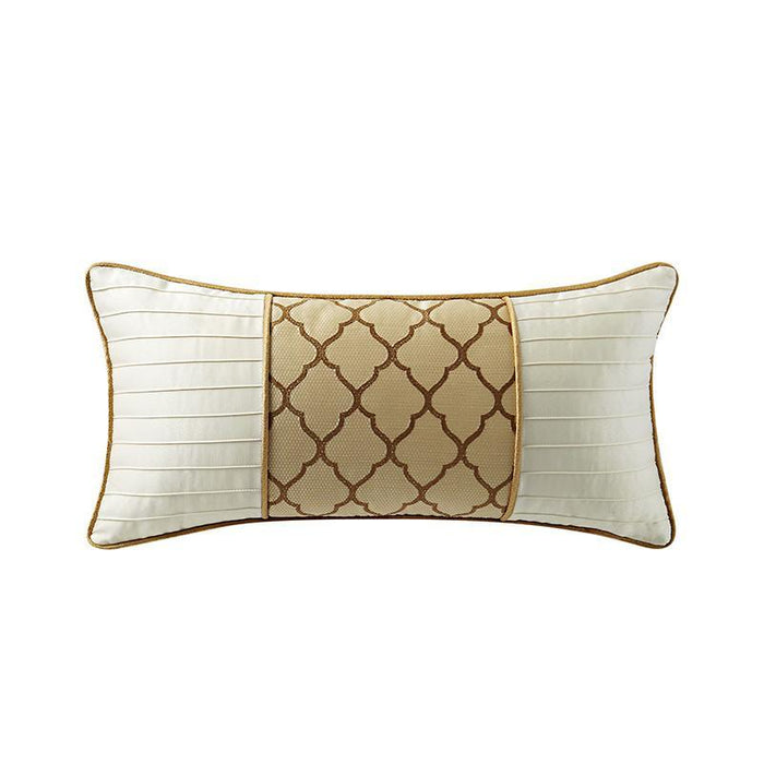 "Russell Gold Square Decorative Pillow 22"" x 11"""