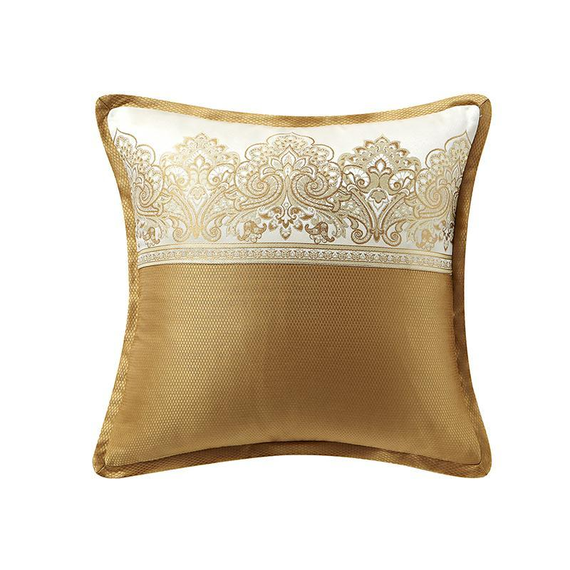 "Russell Gold Square Decorative Pillow 16"" x 16"" [Luxury comforter Sets] [by Latest Bedding]"