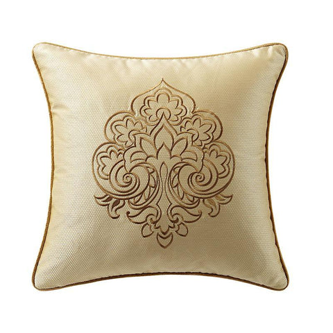 "Russell Gold Square Decorative Pillow 18"" x 18"" [Luxury comforter Sets] [by Latest Bedding]"