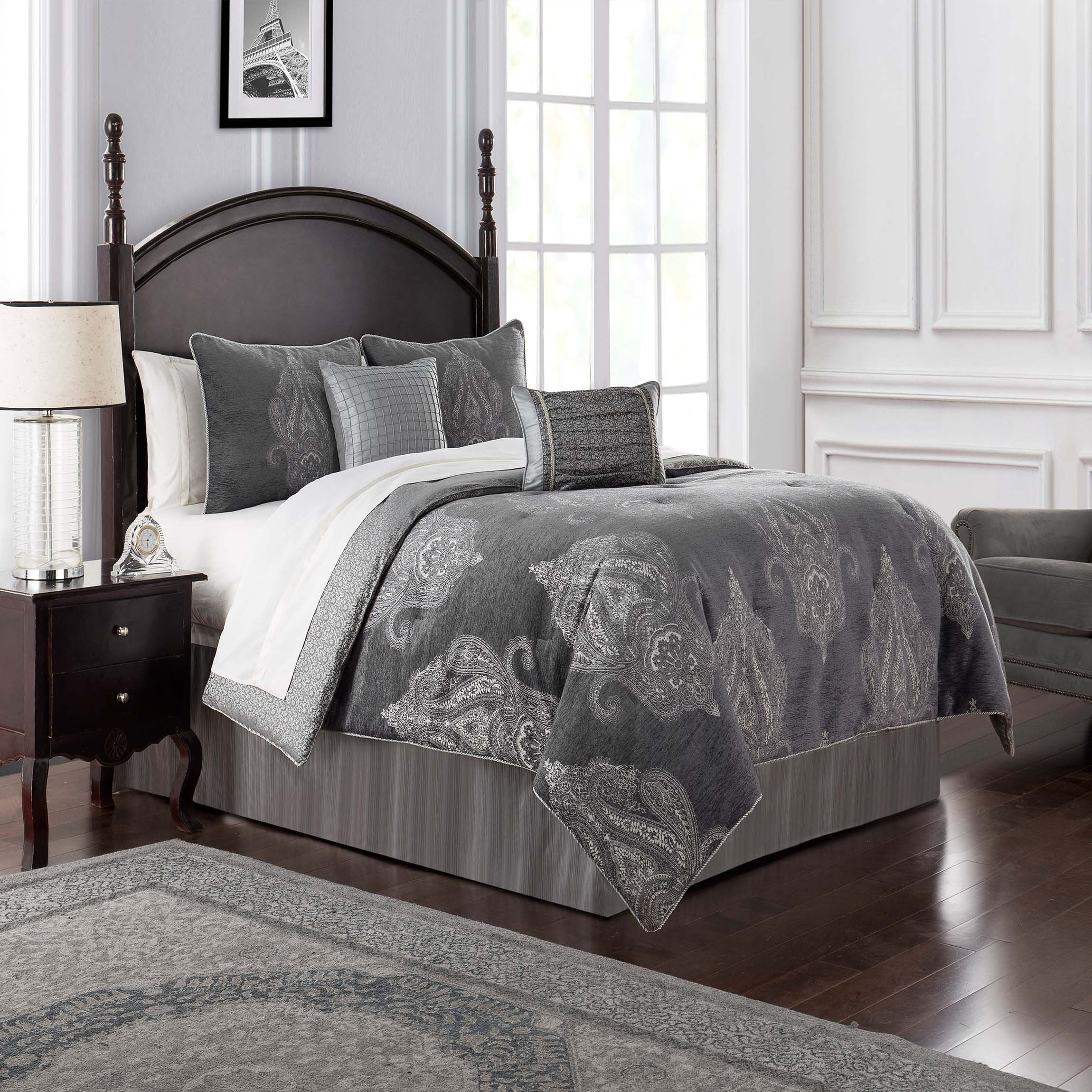 Ryan Platinum 4-Piece Comforter Set [Luxury comforter Sets] [by Latest Bedding]