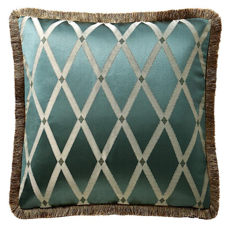 Sham Anora Brass/Jade Euro Sham by Waterford Latest Bedding