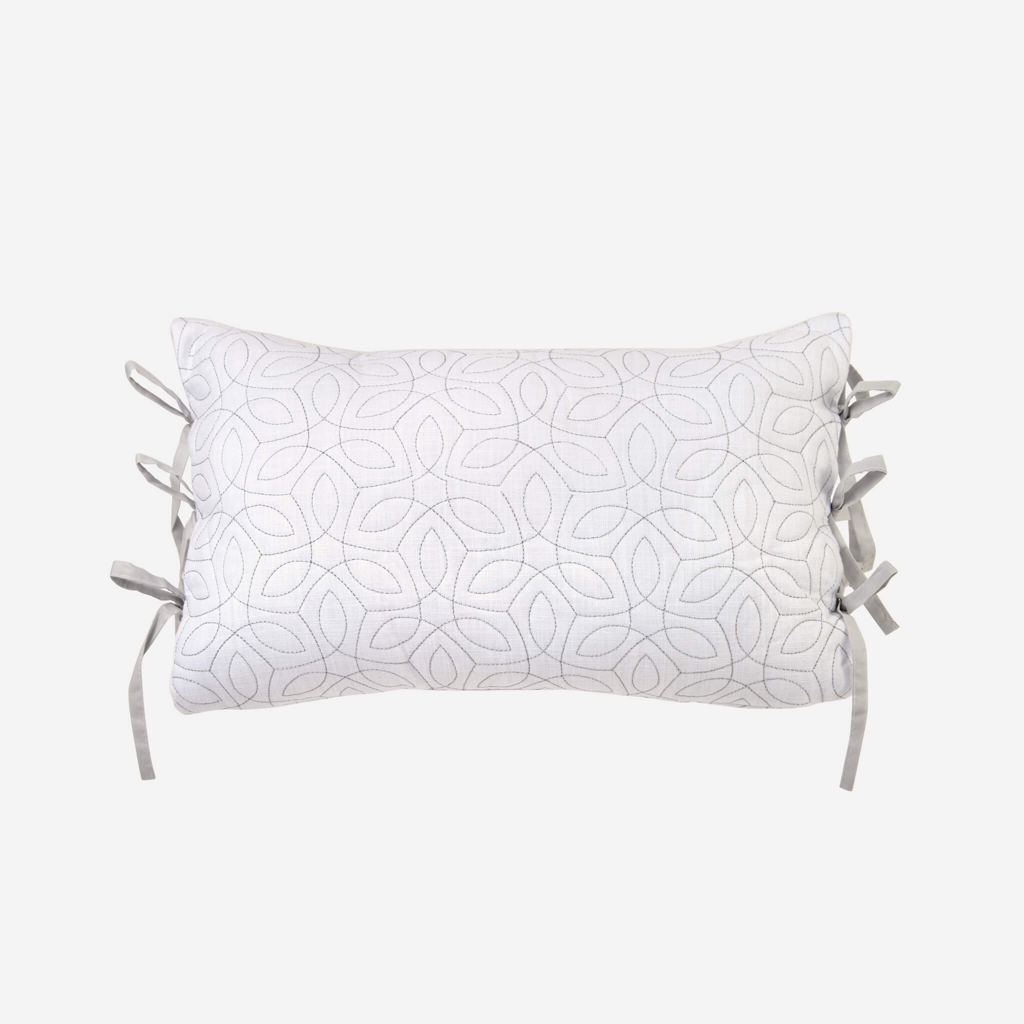 "Saffira White Boudoir Pillow 18"" x 12"" By Croscill Throw Pillows By Croscill Home LLC"