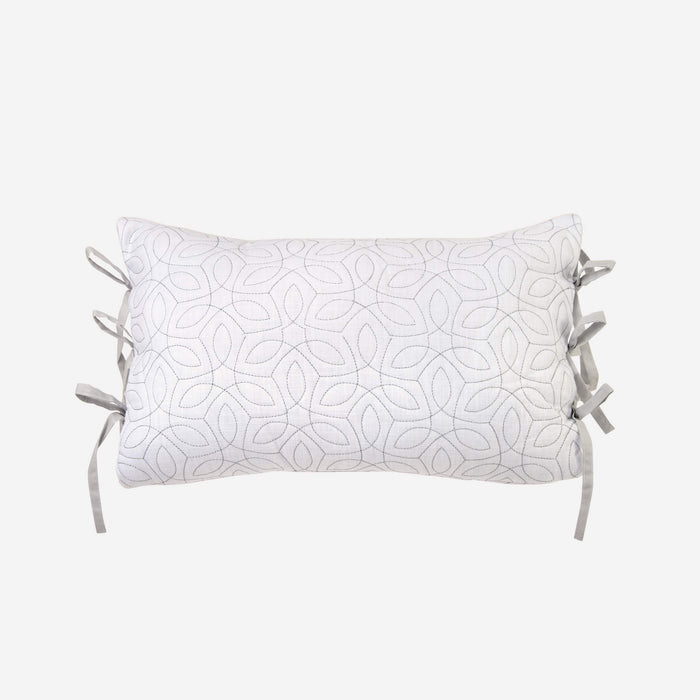 "Saffira White Boudoir Pillow 18"" x 12"" By Croscill"