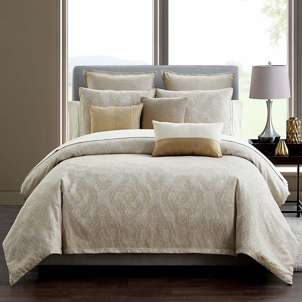 Samara Neutral 3 Piece Comforter set [Luxury comforter Sets] [by Latest Bedding]