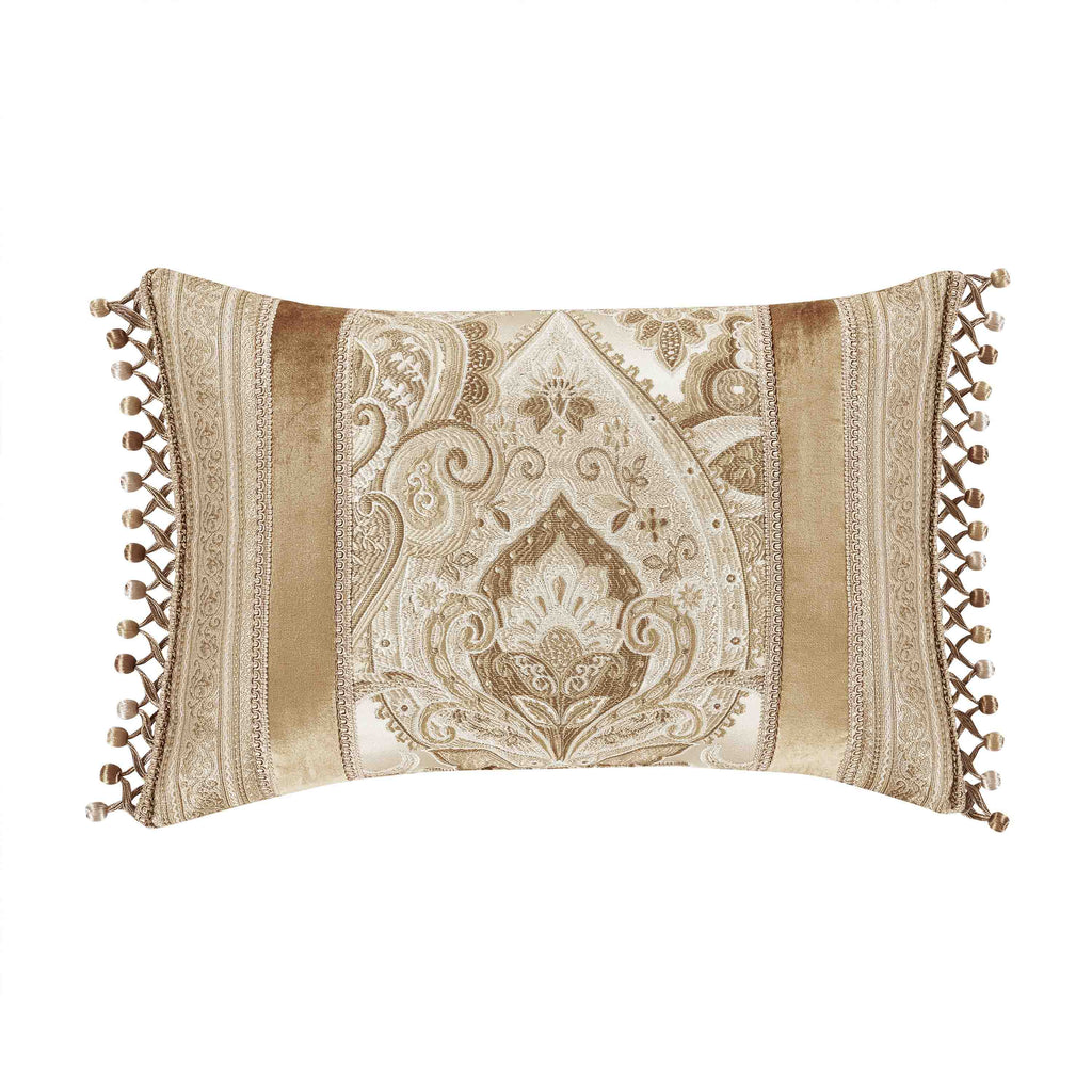 "Sandstone Beige Boudoir Decorative Throw Pillow 13"" x 21"" [Luxury comforter Sets] [by Latest Bedding]"